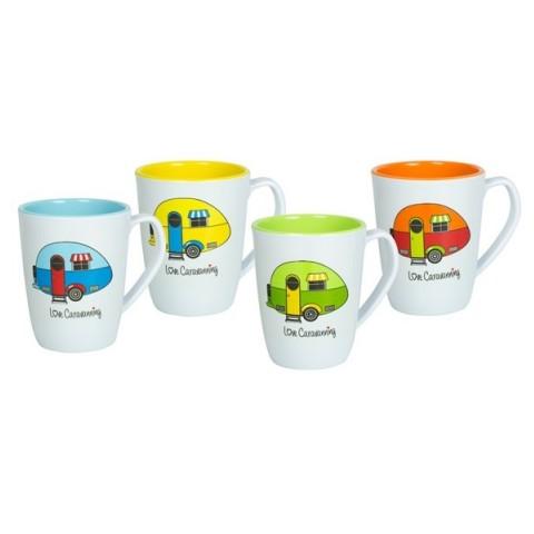 1be7e0242c0 Love Caravanning 4 Pk Mug Set | RAC Shop