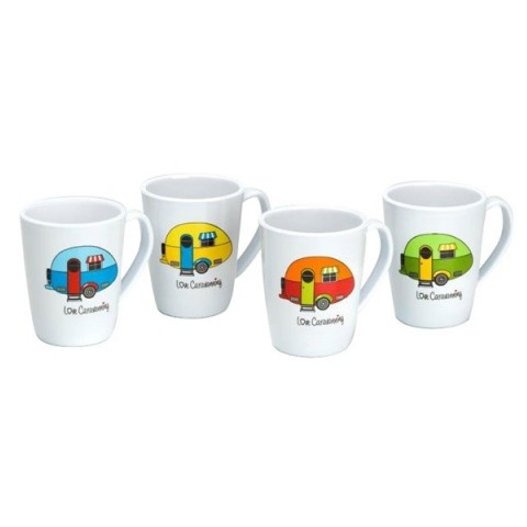 b939a8352bf Love Caravanning Solid White Mug Set – 4 Pack | RAC Shop