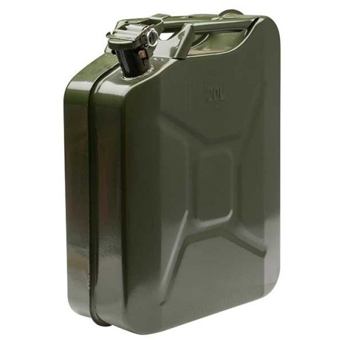 20l jerry can powder coated thick green for petrol. Black Bedroom Furniture Sets. Home Design Ideas