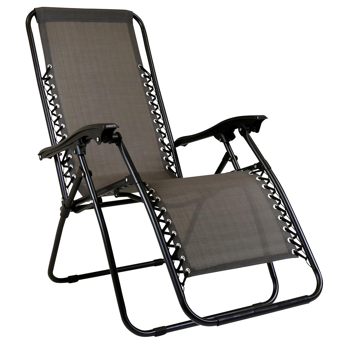 Fabulous Charles Bentley Zero Gravity Folding Reclining Lounger Grey Creativecarmelina Interior Chair Design Creativecarmelinacom