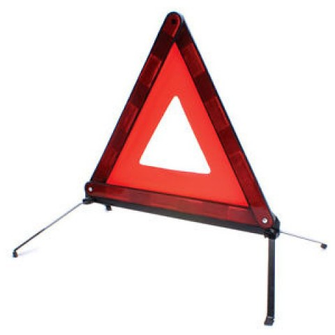 Warning Safety Triangle emergency red reflective car folding breakdown EU travel