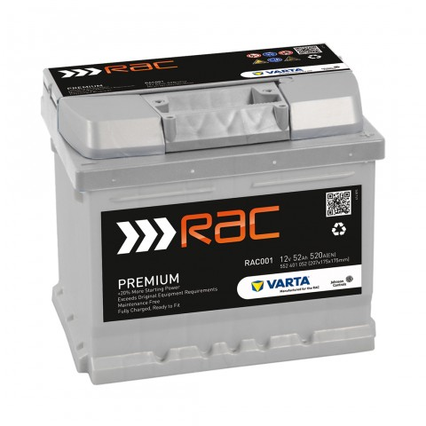 Rac001 Car Battery Type 063 079 12v 52ah